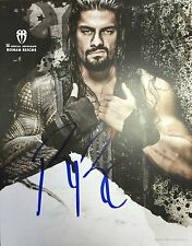 WWE ROMAN REIGNS THE SHIELD AUTOGRAMM HANDSIGNIERT POSTER FOTO WRESTLING-FIGUR