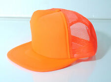 NEON TRUCKER MESH HAT CAP SNAP BACK BASEBALL PLAIN ORANGE GREEN PINK YELLOW