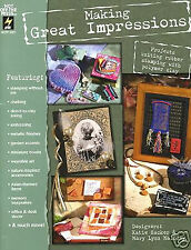 Making Great Impressions rubber stamping clay craft book