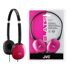 JVC HA-S160P Pink FLATS Headphone Stereo Cable Over-the-head Binaural HAS160