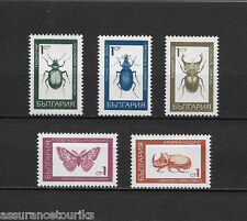 BULGARIE INSECTES - 1968 YT 1610 à 1614 - TIMBRES NEUFS** MNH LUXE