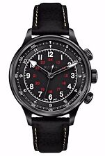 Bulova Accutron Men's 65A107 Accu Swiss A-15 Automatic Black Leather Band Watch