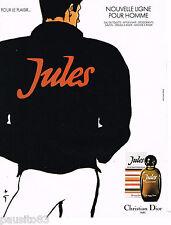 PUBLICITE ADVERTISING 065  1980  DIOR  eau de toilette  JULES par RENE GRUAU