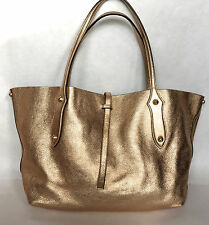 Annabel Ingall Metallic Gold Leather Isabella Large Shoulder Bag Purse