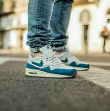 Nike Air Max 1 Essential Light Bone Brigade Blue Size 7.5 Men 9 Women 599820-019