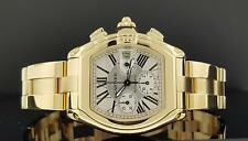 Cartier Roadster W62021Y2 XL 2619 Chronograph Date 18k Yellow Gold Box & Papers