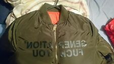 Supreme undercover reversible bomber jacket. olive green. size XL