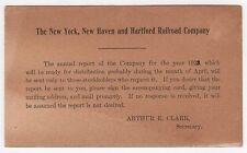 1923 NEW YORK NEW HAVEN HARTFORD RAILROAD Card NY NH Trains RR Train NOTICE
