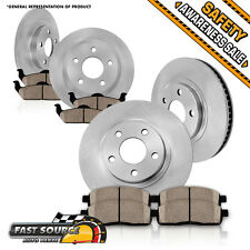 Front and Rear Brake Rotors & Ceramic Pads 2002 2003 TOYOTA CAMRY V6 SE XLE USA