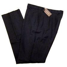 J-1635100 New Bottega Veneta Black Flat Front Dress Pants Size 38 Marked 54