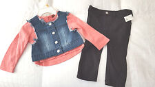 NWT  Seven 7 For All Mankind Girl's 3 Pc. Outfit  Sz. 12 mo. NEW