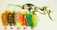 A0235 STOCK 7 PC ARTIFICIEL SPINNERBAITS LEURRES BROCHET BLACK BASS 16,3 GR