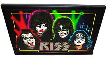 Kiss L.E.D. Light Up Poster Highly Collectible Graphics Art Stunning Rare VHTF