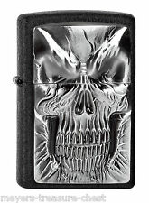 awesome ZIPPO Shadow Master Skull rare plated collectible lighter emblem