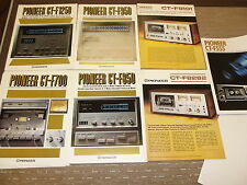 Pioneer CT-F1250 CT-F950 CT-F850 CT-F700 CT-F9191 CT-F8282 original catalogue