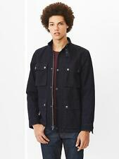 NWT GAP Mens 1969 indigo denim moto jacket Dark Indigo Sz. Large