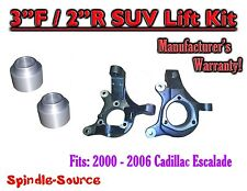 "2002 - 2006 Cadillac Escalade SUV 2WD 3"" / 2"" Lift Kit Spindles + Coil Spacer"
