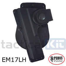 New Fobus Glock 17 Tactical Light Laser Bearing Paddle Holster Left Hand EM17LH