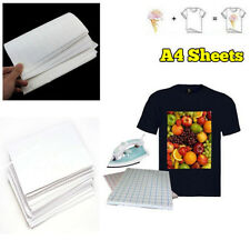10X/lot A4 Heat Iron on T-Shirt for DARK fabrics Inkjet Printer TRANSFER PAPER