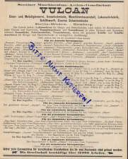 STETTIN-BREDOW, Werbung 1911, Maschinen-Bau AG Lokomotiv-Fabrik VULCAN Schiffe