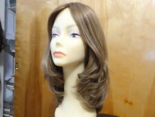 Malky European Sheitel Multidirectional  Hair  Wig Light Brown& Highlight 14/8