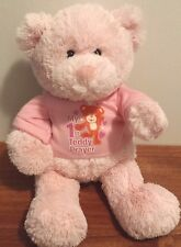 "GUND Baby Plush Teddy Bear Pink My First Teddy with sweatshirt 12"" RARE"