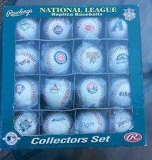 1992 Rawling MLB set of 16 Mint National League baseballs w/Mint SI mag