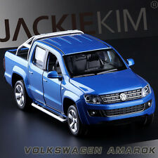 1:32 Scale Volkswagen Amarok Diecast Pick Up Truck SOUND LIGHT 4-Doors Open Blue