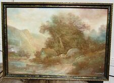 1910S EARLY CALIFORNIA LANDSCAPE PASTEL PAINTING LISTED SF ARTIST ALFRED HARMS