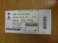 06/08/2011 Ticket: Tottenham Hotpsur v Athletic Bilbao [Friendly] (some marking)