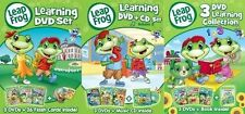 LEAPFROG LEARNING SET Volume 1 2 3 DVDs CD Book Kids Children School Cartoon  TV