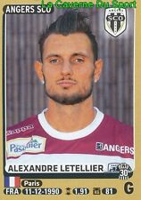 027 ALEXANDRE LETELLIER # SCO.ANGERS STICKER PANINI FOOT 2016