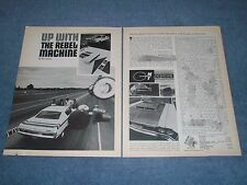 """1970 Rambler Rebel Track Test Vintage Info Article """"Up With The Rebel Machine"""""""