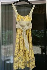Free People Anthropologie Yellow Daisies Floral Boutique Dress Womens size 0 XS