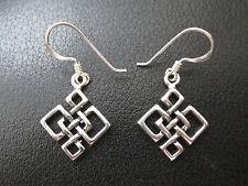 Keltische Knoten 925'er Silber Ohrringe Ohrhänger Paar      / KA 760 o