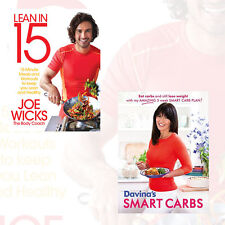 Lean in 15 & Davina's Smart Carbs 2 Books Collection Set By Joe Wicks Davina