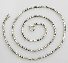 Vintage 835 Solid Silver Snake Link Chain Necklace 17""