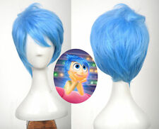 Newest Inside out cosplay JOY wig blue short fashion hair for Adult Women Party