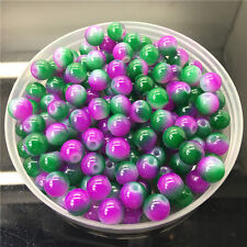 10mm 20Pcs Double Color Glass Pearl Round Spacer Loose Beads Jewelry Making 1#28