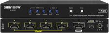 1x4 1:4 HDMI 3D Distribution Amplifier/Splitter 4K2K Video Scaler +EDID SB-5654K