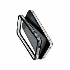 Black & clear iphone 4 authentique boutons en métal pare-chocs Housse et signal booster