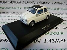voiture 1/43 atlas NOREV voiture de mon père : FIAT 500 blanche