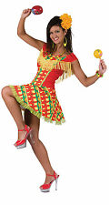Da Donna Messicana s Fancy Dress Costume MARIACHI Messico FIESTA CARNEVALE VESTITO NUOVO