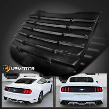 2015-2017 Ford Mustang Black Rear Window Louver Cover Vintage Style