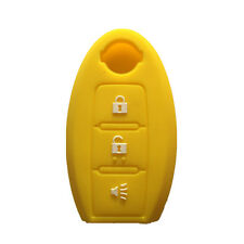 Yellow Silicone SMART Remote KEY cover case fit for NISSAN Murano 370Z 3 Buttons