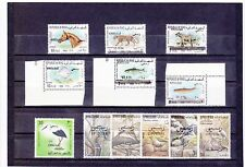 IRAQ OFFICIAL Opts 1971-75 issues Fauna Wild Animals Birds Fish all Superb MNH.