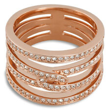 Swarovski Creativity Rose Gold-Tone Ring - Size 8