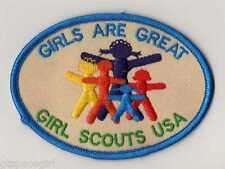 Girl Scout Contemporary Issue Patch~Girls Are Great~Embroidered