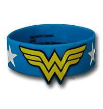 Wonder Woman Stars Logo DC Comics Licensed Silicone Bracelet Wristband
