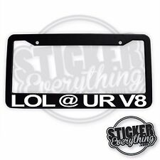 LOL @ UR V8 LICENSE PLATE FRAME STI WRX TURBO FRESH AT YOUR RACE SUBARU JDM SI